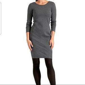 Athleta Grey Illusion Long Sleeve Dress Medium